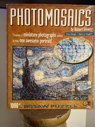 New Photomosaic Van Gogh Starry Night 1000 Piece Puzzle Never Opened Sealed Box
