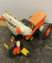 Vintage 1977 Empire Chips Tv Show Child's Ride On Motorcycle , As Is