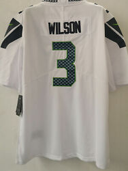 🔥🔥ship From Usamenand039s Seattle Seahawks Russell Wilson White Stitched Jersey