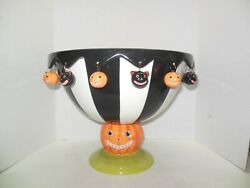 Dept 56 Time To Celebrate Glitterville Pumpkin Punch Bowl Rare Discontinued