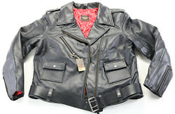 Usa Womens Harley Davidson Museum Leather Jacket Xl Black Cycle Queen Bar Double
