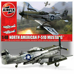 Airfix North American P-51d Mustang Plastic Model Kit 1/48 Scale