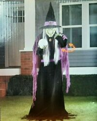 Life Size Witch Animated Talking Moving Lighted 6' New