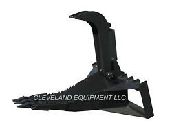 New 62 Xl Stump Grapple Bucket Attachment For Skid Steer Track Tractor Loader