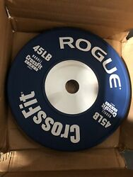 Rogue 2021 Nobull Crossfit Games Competition Bumper Plates Pair 45 Lbs