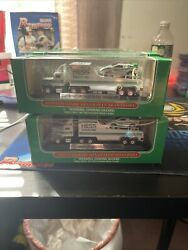 Hess Oil Company 2001 Miniature Hess Racer Transport - Toy Truck Lot Of 10