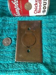 Vintage Antique Heavy Brass Bryant Co. Floor Electric Outlet Plate Cover