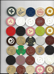 100 Old Poker Roulette Casino Gambling Gaming Chips Playboy Golf Cigarettes H