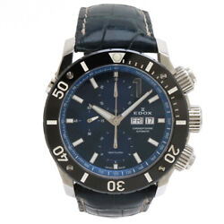 Edox Edox Class One Chrono Offshore Carbon Table Leather Belt Ss Ceramic Bes