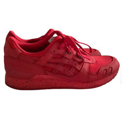 Asics Mens Gel Lyte 3 H6x3l Red Running Shoes Lace Up Low Top Size 10