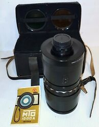 MTO 1000A 1100mm f 10.5 Mirror lens M42 camera mount Includes Case amp; Booklet