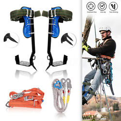 Tree Climbing Spike Set, Safety Belt Rope Straps, Safety Lanyard With Carabiner