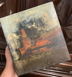 Box Lacquer Russian Miniature Kremlin Painting Moscow 19th Century Imperial Box
