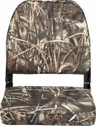 Folding Camo Boat Vinyl Low Back Seats Hunting Durable Camouflage Plastic Frame