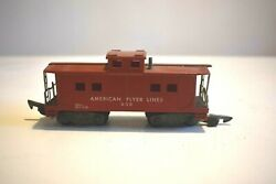 American Flyer S Gauge Reading 630 Caboose Lighted Weighted Link Coupler