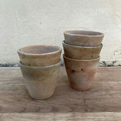 Vintage French Lot Of 5 Terracotta Pots Planter 1409214