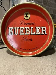 Vintage Kuebler Brewing Co Beer Tray Easton Pa Nice Red 13andrdquo Tray Man Cave Decor