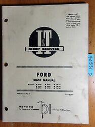 Iandt Ford 8000 8600 8700 9000 9600 9700 Tw-10 Tw-20 Tw-30 Tractor Service Manual