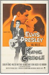 Movie Poster King Creole 1958 One Sheet 27x41 F+ 6.5 Elvis Presley