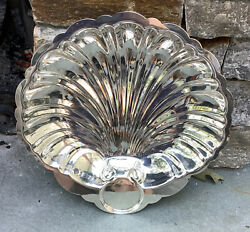 Vintage English Silver Mfg Corp Shell Shaped Serving Dish-plate-made In Usa
