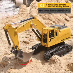 Remote Rc Construction Grapple Fork 8 Channel Radio Controlled Digger Tractor Su