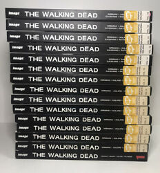 Lot Of 1-15 Walking Dead Hardcover Books Preowned Condition
