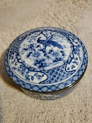 House Of Global Art Japan Blue And White Small Bowl With Lid