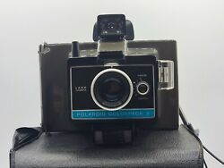 Vintage Polaroid Colorpack Ii Land Camera With Original Bag And Manual Untested