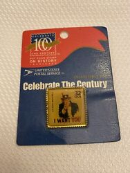 Usps Collectible Pin I Want You Uncle Sam 100 Years Celebration Factory Sealed