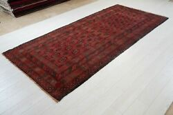 9and039 7 X 4and039 5 Handmade Vintage Rug Soft Red Collectible Semi Antique Wool Carpet