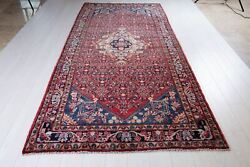 10and03911x4and0399 Collectible Vintage Rug Red Soft 5x10 Hand Knotted Oriental Carpet