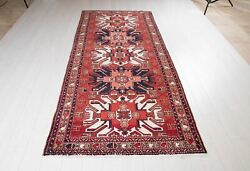 9and039 3 X 4and039 Collectible Kazak Vintage 9ft Runner Rug Soft Red Hallway Wool Carpet