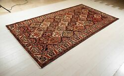 9and03911 X 5and0394 Collectible Vintage Area Rug 5x10 Nomadic Rustic Tribal Wool Carpet