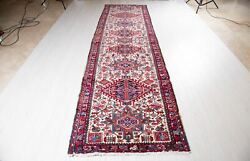 13and039 1 X 3and039 7 Beige Vintage Runner Rug Geometric Collectible Hallway Carpet