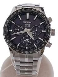 Seiko Astron 5x53-0ab0 Day Date Box Used Gps Solar Mens Watch Authentic Working