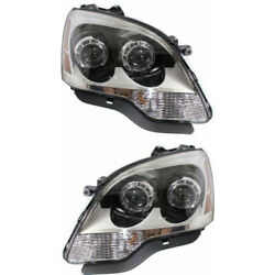 Fits Grand Mercury Acadia Headlight Assembly 2008 09 10 11 2012 Pair Lh And Rh