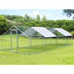 9.212.5ft Waterproof Chicken Dog Large Metal House Coop Shaped Hen Run Cover Us