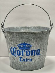 Corona Extra Beer Galvanized Ice Bucket Pail Tailgating Party Beer Cooler Opener