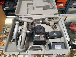 Porter Cable Kit - Circular Saw 845, Drill 884, Flashlight, And 2 Batteries