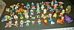 Vintage Lot Of 80and039s Pvc Toy Figures Smurfs Cabbage Patch Kids Gremlins And More