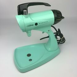 Vintage 50s Sunbeam Mixmaster 12 Stand Mixer Turquoise Robins Egg Blue Tested