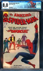 Amazing Spider-man 10 Cgc 8.0 White Pages 1st App. Of The Big Manl@@k