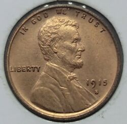 1915 S Lincoln Cent Uncirculated Tough Semi-key Date