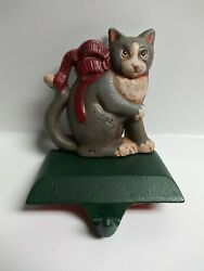 Midwest Of Cannon Falls Cast Iron Cat Kitty Stocking Holder Hanger Christmas