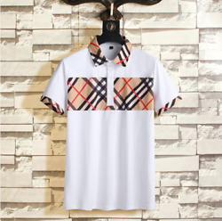 Classic Summer Cotton Menand039s T-shirt