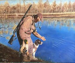 Duck Hunting Large Oil Painting Custom Portrait From Photos Robin Zebley Rzzart