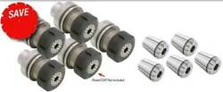 11 Pc. Techniks Hsk 63f Er 40 Cnc Routers Tooling Kit-collet Chuck,collet,wrench