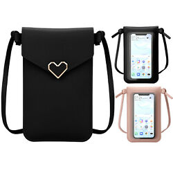 Women Touch Screen Cell Phone Pouch Case Crossbody Shoulder Bag Leather Purse $6.64