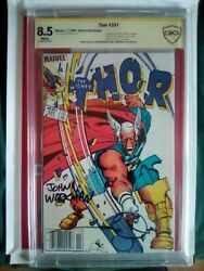 Thor 337 - 1st Beta Ray Bill Signed Newsstand Variant