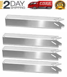 New 4-pack Stainless Steel Grill Heat Plate Shield For Brinkmann 810-4221-s